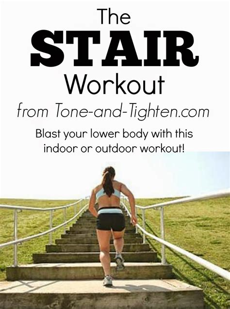 The Stair Workout- make those legs burn! | Tone and Tighten