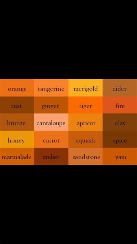 Oranges (With images)   Color names, Color shades, Orange