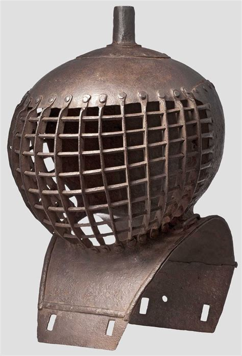 A German helmet for the tournament fought with clubs or