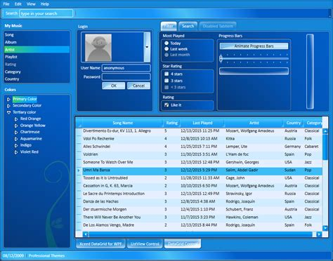 Xceed Pro Themes for WPF – Xceed