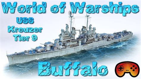 """""""USS Buffalo"""" T9 Preview in World of Warships - Gameplay"""