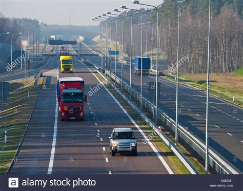 The new Polish motorway A2 is pictured near Slubice