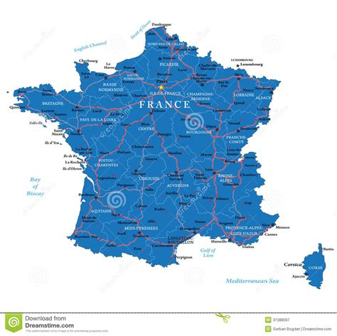 France map stock vector