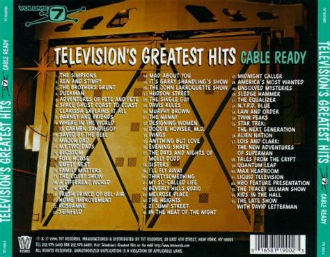 Television's Greatest Hits, Vol