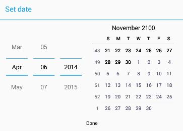 Android Calendar View of DatePicker - Stack Overflow